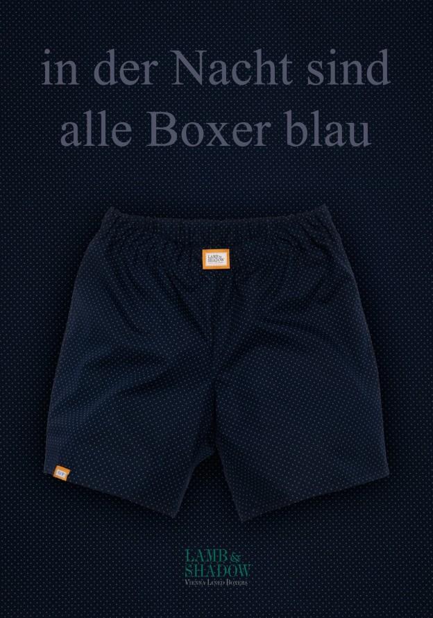 Boxer Blau Kreise